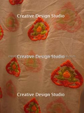Nice stitch effect of embroidery fabric