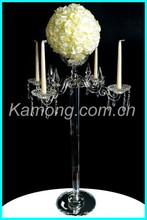 Alibaba China wholesale wedding candelabrum with nice flower bowl