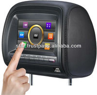 7 inch touch screen Headrest dvd with games, CD player