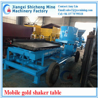 mobile gold concentration table, mobile alluvial gold concentrator