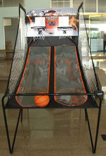 """7/8"""" Steel Tube Foldable Basketball Stands For Game w/ Backboard and Net"""