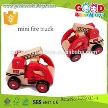 2015 Best Selling Mini fuego de dibujos animados juguetes para los niños, Color rojo Mini camión de bomberos