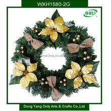 45CM Artificial Christmas Wreath with Flowers