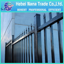 High quality home garden wrought forged iron fence