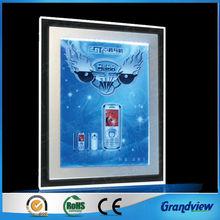 one sided edge lit rectangle acrylic led photo frame