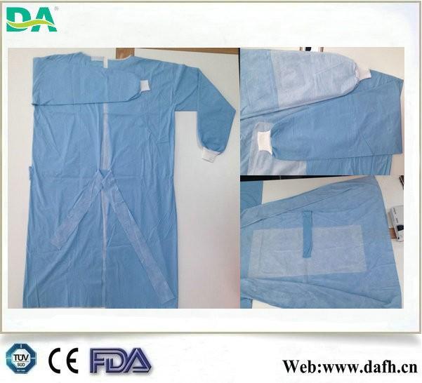 Tıbbi tek spunlace takviyeli cerrahi/tıbbi elbisesi