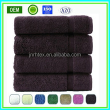 Top quality 100% cotton dobby terry bath towel