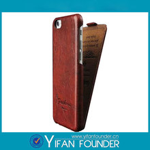 Up and down slide pu leather case for iphone 6 , wholesale leather flip for iphone