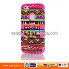 Hybrid hard mobile phone case for iphone5