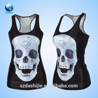 Slinky woman sublimation summer wrestling dress & wholesale sleeveless wrestling singlet & 3d t-shirt printing machine