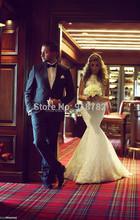 Vestidos De Noiva Custom Made Wedding Sleeveless Dress Fashionable Romantic Crystal Bride Dresses Lace Mermaid Wedding Dress