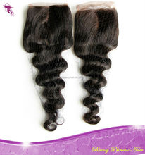PrincessBeauty Peruvian Loose Wave Virgin Hair 4pcs lot, Millde Part Lace Closure with 3 bundles Fast Shipping,Natural Color