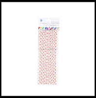 Christmas theme in snowflake printed paper straws