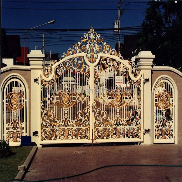 Modern luxury wrought house iron sliding gate designs