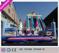 Nice penguin large inflatable slides/outdoor trampoline slide for adult and kids