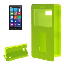 Horizontal Flip Leather Case for Nokia Lumia 930 Cover with Caller ID Display Window
