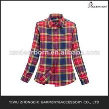 tela de franela roja blusa de verificación
