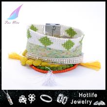 2015 new design girls wrap bracelet colorful bead jewelry latest bracelet jewelry