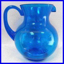 Eco-friendly colorful high quality belly plastic water pitcher bpa free