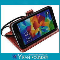 Factory Manufacturer Leather Flip Case For Samsung Galaxy S5 Leather Cover
