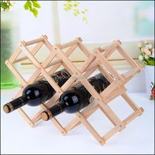 High quality folding solid wood wine rack/wine shelf/wine holder