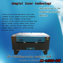 80 watt DK14090 laser cutting and engraving machine for sale