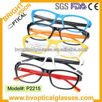 P2215 colorful Children Optical frame kids eyeglasses spectacles new design factory direct sale