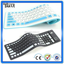 High quality flexible wireless silicone waterproof bluetooth soft keyboard/keyboard soft