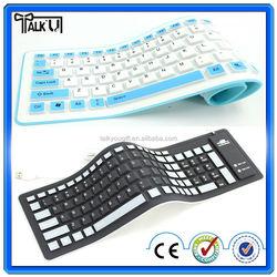 High quality flexible wireless silicone waterproof bluetooth soft keyboard/keyboard soft