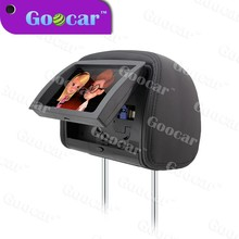 9 inch car headrest dvd player with DVD/CD/CDG/MP4/MP3/WMA/JPEG/MP5
