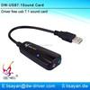 High quality virtual 7.1 channel usb sound card external