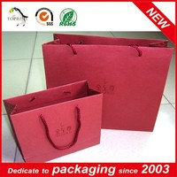 Luxury Paper wine Bottle kraft Bag With Rope Handle