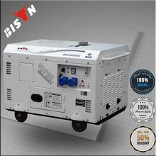 BISON China 100% copper Electric Start Diesel Power 15 kva 3 phase generator