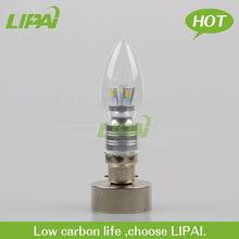 new product led candle light 4W B22 dimmable hot sale in Euro market