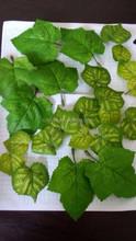 Cheap artificial grape leaves,decorative plastic grape leaf YZT1-1770