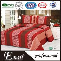 Faux silk bedding set/microfiber quilt/bed sheet disposable