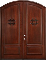 Spanish Colonial MISSION style Shaker Round Top 2 panel Customized Oak Wooden Doors
