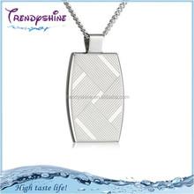 Men's silver jewlery stainless steel pendant setting