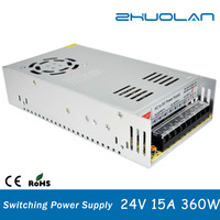 alibaba.com shenzhen ac to dc 24v 15amp 360w SMPS switch power supply for led strip light