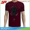 china manufacturer sublimation printing fine 100% mens burgundy round neck cotton t-shirt