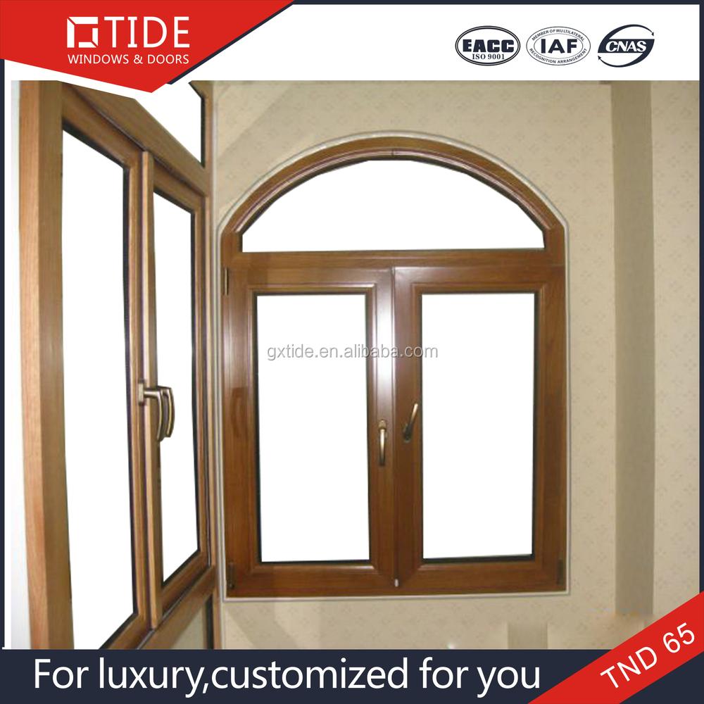 tnd curva redonda nica de diseo ventana titl up de madera ventana de aluminio