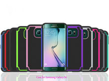 Multi-fuction combo shell for Samsung S6 phones / useful for Samsung galaxy S6 plastic case / for Samsung S6 TPU case cover
