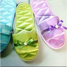 Winter slippers fabric-------Smooth feel satin nylon and Spandex fabric
