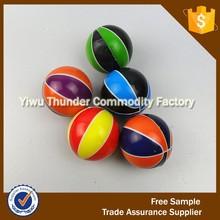 Fashion Anti Stress Toy PU Colorful Basketball