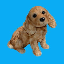 cute dog shape polyresin garden ornaments