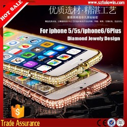 2015 New Arrival Luxury Diamond Case For iphone 6 cover, Jewely Bling Case For iphone 6 6 Plus Diamond Bumper Cover High quality