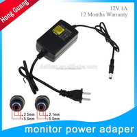 made in china 12v 1a power adapter for cctv camera