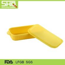 Silicona amarilla caja de almuerzo