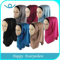 Promotional beautiful wholesale muslim hijab, jersey hijab, fashion hijab