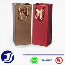 Luxury style gift bag for wine Festival paper bag